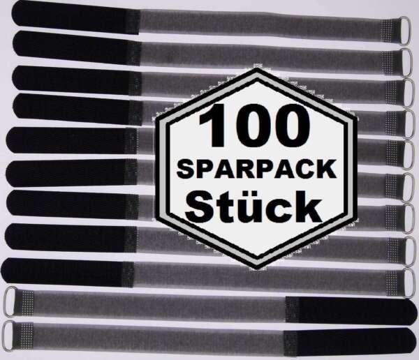 Nauwkeurig 100 Klett Kabelbinder 300 X 20mm Schwarz Fk Kabelklettband Kabelklett Verschluss