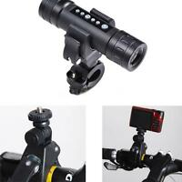 90° Adjustable Bicycle Bike Flashlight Bracket Clip Mount Clamp Holder D6g8