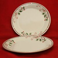2 Home Essentials Tartan Ribbon Christmas Dinner Plates