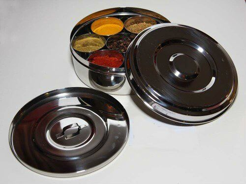Neelam/'s Spice Container Stainless Steel Spice Tin Superior Quality Masala Dabba