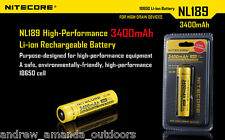 NITECORE NL189 2014 Universal 18650 Li-ion Recharger Battery With 3400mah 3.7v 1