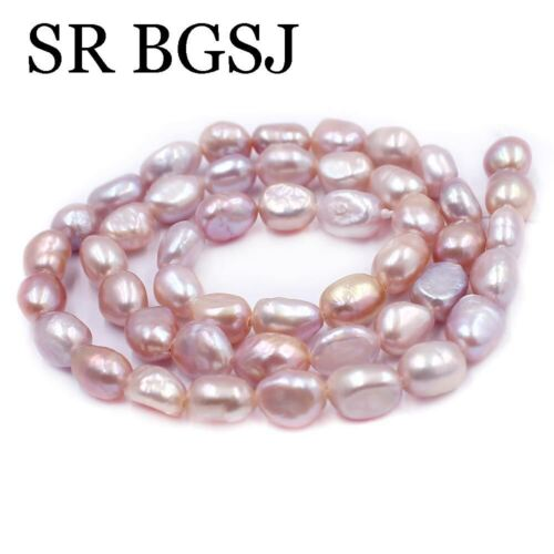 Jewelry DIY Long Potato Purple Cultured Freshwater Pearl Beads Strand 15/""