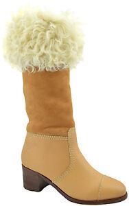 Chanel-en-cuir-marron-en-Daim-Shearling-fur-BOTTES-HAUTES-39-9-edition-limitee