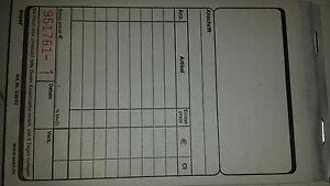Caisses Blocs, Ticket De Caisse, 2x50 Feuille De Haute Qualité A-ware 6 Blocs 1209-afficher Le Titre D'origine Couleur Rapide