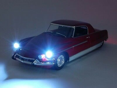 Metal 18 1964 Citroen DS 19 Chapron Le Dandy Red LE 1500pcs 1:18*Working Lights!