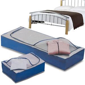 under bed storage duvet pillow clothes bedding organiser