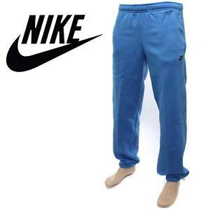 Détails sur ✅ 24Hr livraison ✅ Nike Club Polaire Homme Jogging Sweat Pantalon Pantalon bleunoir afficher le titre d'origine