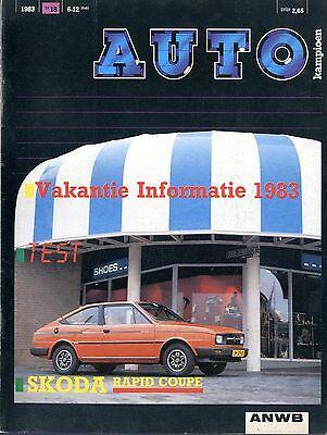 1983 Autokampioen Magazin 18 Skoda Rapid Coupe Ford Dieselmotor Dagje Tokyo