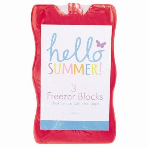 3 Pack Freezer Ice Blocks Camping Lunch Boxes Picnic Cooler Bag Travel New MIX