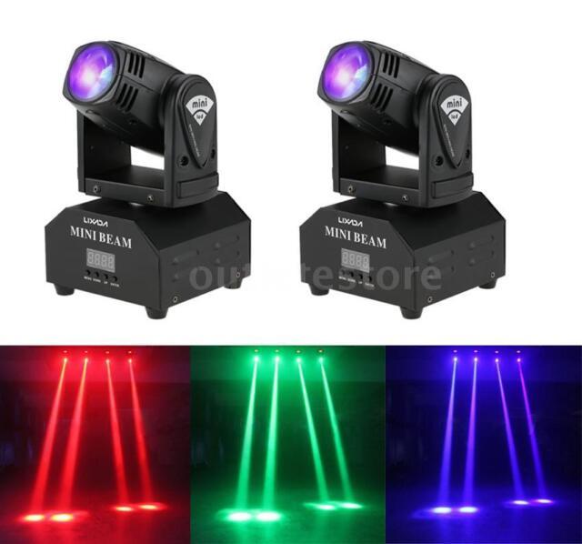 2pcs LIXADA 60w LED Moving Head RGBW Beam Light Dmx512 Stage Effect Lamp  M1a5