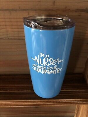 Stainless Steel Tumbler with Lid I/'m A Nurse What/'s Your Superpower Engraved 28 oz