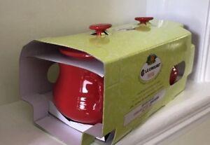 Le Creuset Poterie- 2 Soup Bowls with Lids -Red (BNIB)   eBay