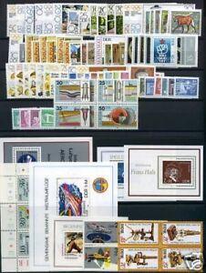 DDR-Jahrgang-1980-postfrisch-MNH-jede-MiNr-1x-mit-Block