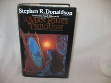 A Man Rides Through Book 2 by Stephen R. Donaldson 1987 HC DJ 1st Edition EX LIB