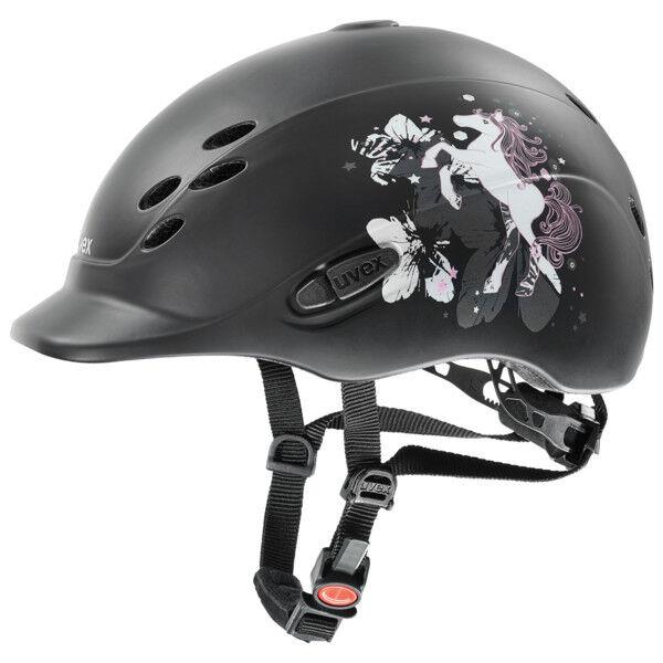 Uvex Helmet onyx Little Pony Anthracite mat mat Anthracite kids riding helmet, matt-Optics Kids c9dff0