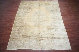 Vintage-12X15-Persian-Kerma-Area-Rug-1970s-Hand-Knotted-Wool-Carpet-11-8-x-14-9