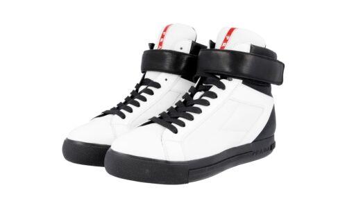 de Hightome 36 luxe Chaussures Prada Noir 37 3t5743 Neuf 5 Blanc Nouveau OXTPiwukZ