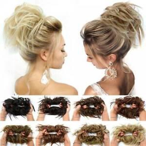 100-REAL-Messy-Bun-Scrunchie-Hair-Extension-Ponytail-As-Human-Hair-Piece-Blonde