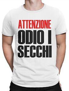 I T Uomo Odio Secchi Maglietta Shirt Attenzione 100Cotone 7yYb6gfv