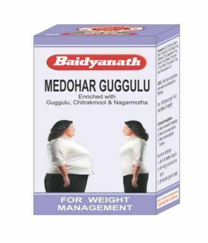 1 Pack Baidyanath Medohar Guggulu Guggul Herbal Weight Loss Tablets Fresh Stock