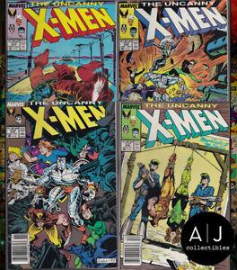 Uncanny X-Men #235 #236 #237 #238 Mid Grade Set (Marvel)