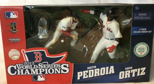 McFarlane Boston Red Sox 2013 World Series Dustin Pedoria /& David Ortiz Figures