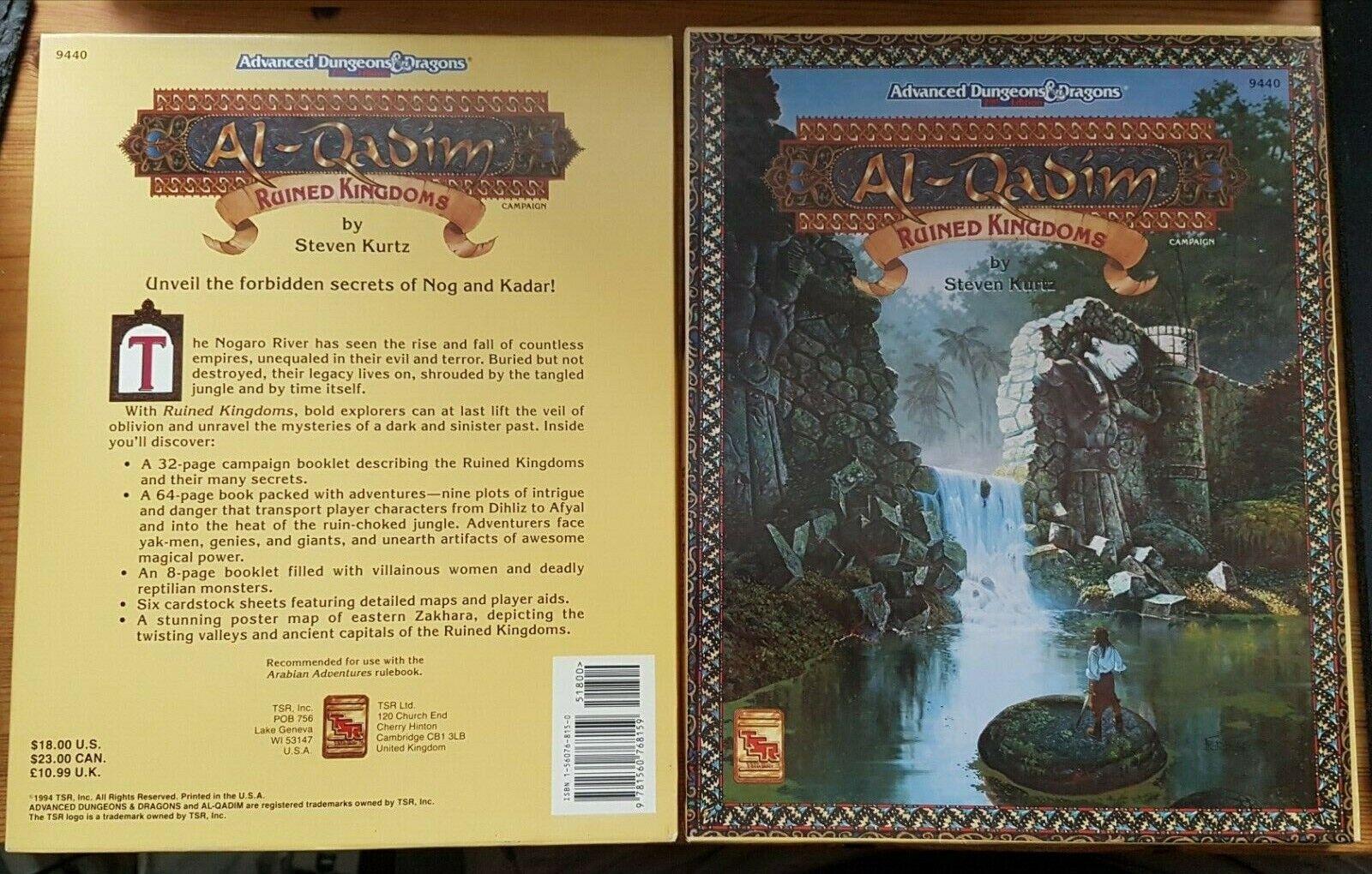 Precio al por mayor y calidad confiable. Arruinado reinos AD&D Al-Qadim 2E 2nd edición edición edición al Qadim campaña TSR 9440 1994  Felices compras