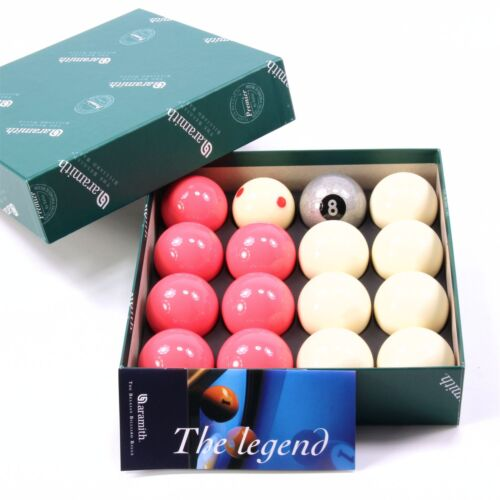 EXCLUSIVE! Aramith SILVER 8 Edition PINK & WHITE Pool Balls - PRO CUP Cue Ball