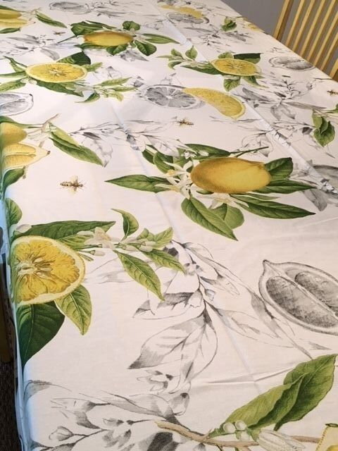 Williams Sonoma Meyer Lemon Table Nappe ronde 70x90 70x108 70x120 ou courirner
