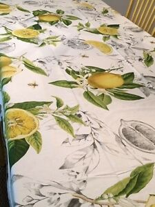 Bon Image Is Loading Williams Sonoma Meyer Lemon Table Tablecloth Round 70x90