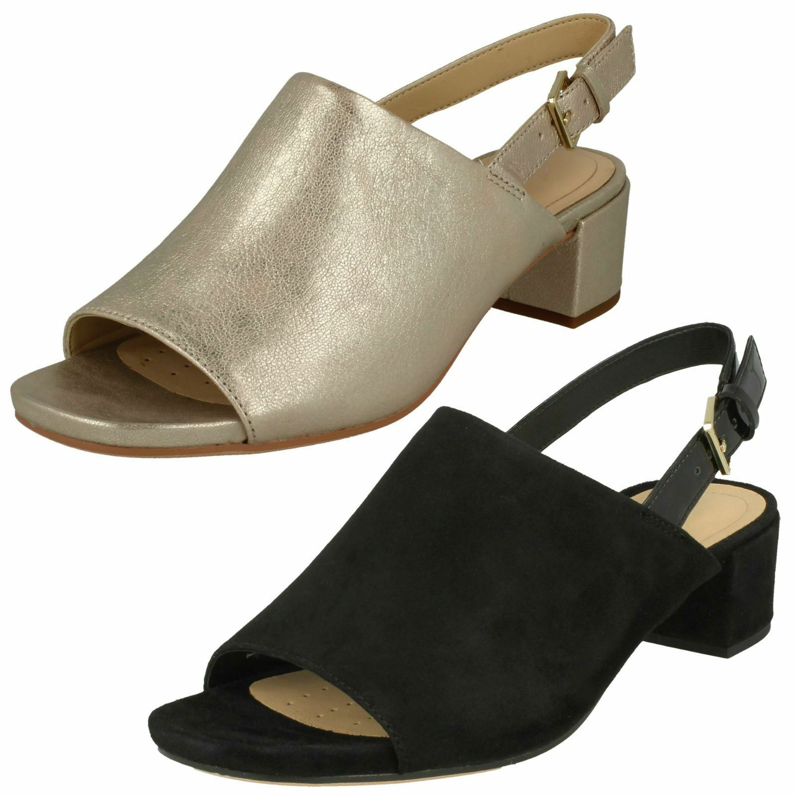 Ladies Clarks Slingback Heeled Sandals Orabella Ivy