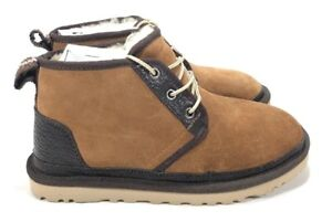 567406dcb55 Details about UGG Mens Neumel Suede with Leather Trim Wool Lined Chestnut  Winter Boots Size 5
