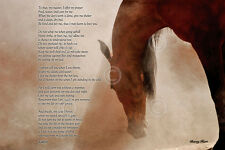 HORSE ART PRINT The Horse's Prayer - Barry Hart Mane Western Cowboy Poster 11x14