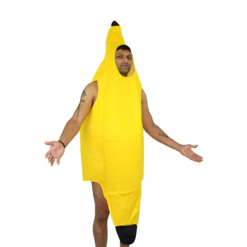 BANANA COSTUME FANCY DRESS OUTFIT UNISEX MEN WOMEN FUNNY STAG NOVELTY FUN