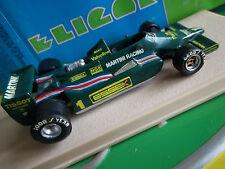 ELIGOR Lotus 79 Martini Essex F1 como nuevo en Caja Resina fábrica Tameo Hi-Fi integrada
