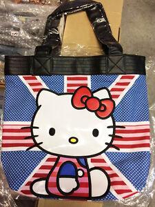 98f6dcf365c New LOUNGEFLY Sanrio HELLO KITTY Canvas Tote Bag Purse Handbag UK ...