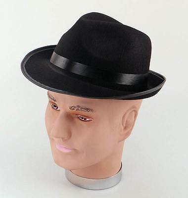 Blues Brothers Cappello Di Feltro. Accessorio Costume Cappucci-