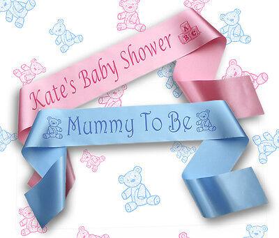 Personalised Baby Shower Sash/Sashes/Banners/Big Sister/Nanna/Grandma/Daddy
