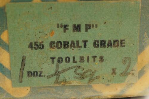 """4 New FM Parkin Uk Made 455 Cobalt Grade HSS Lathe Tool Bit 2/"""" x 1//4/"""" x 1//4/"""""""