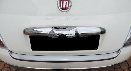 2007---/>2015 Protezione soglia baule per Fiat 500-500C alluminio spazzolato