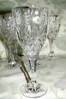 GODINGER CRYSTAL STEPHANIE WATER GOBLET (8 available) vertical cuts flowers  EXC