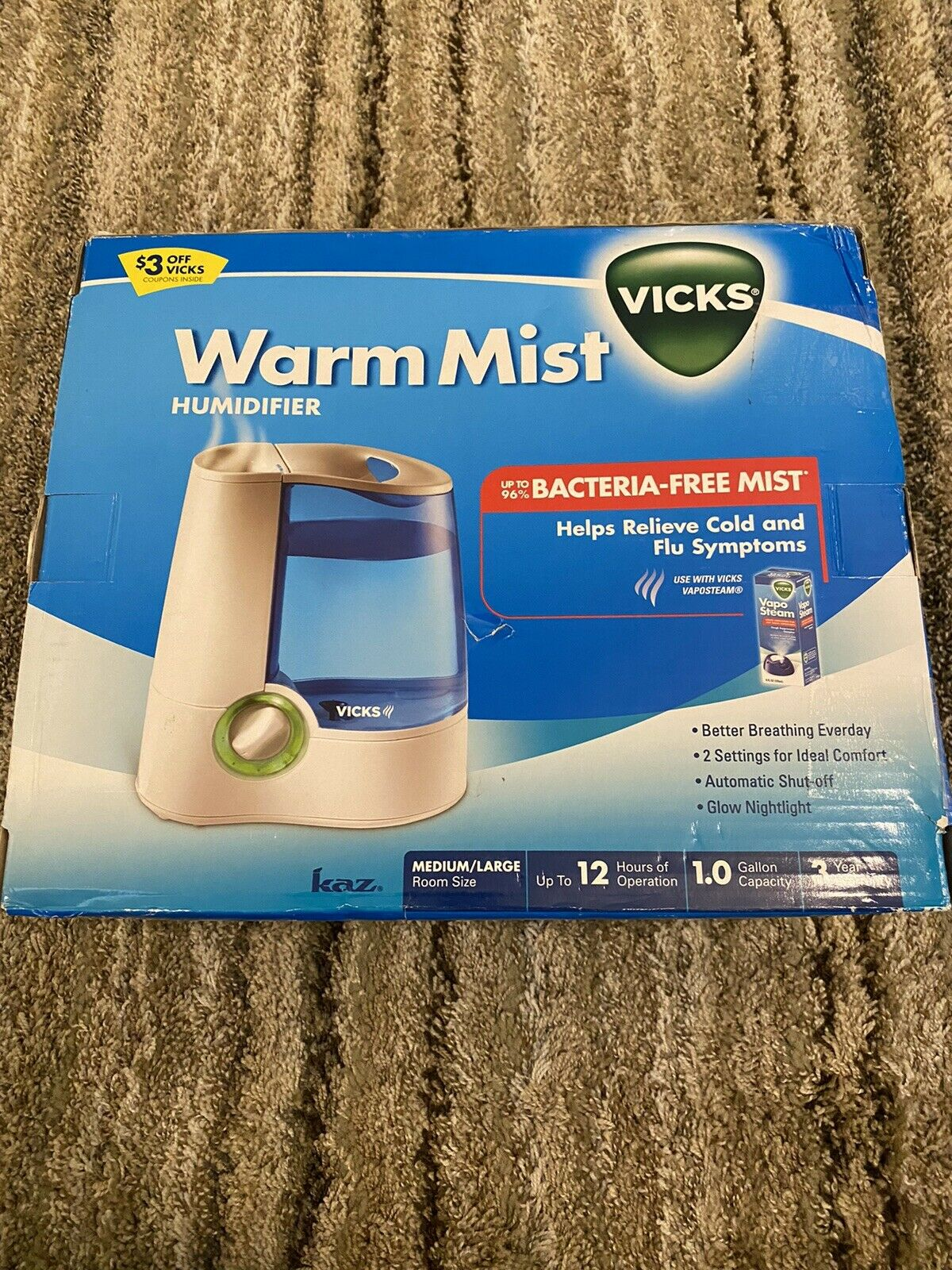 Kaz V745A, Vicks Warm Mist Humidifier V745A User Manual