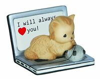 Precious Moments Cat On Laptop Figurine, New, Free Shipping