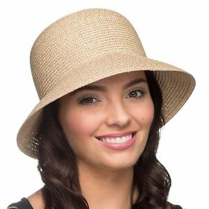 9b7cec9d i-Smalls Women's Summer Lightweight Wide Brim Cloche Sun Hat (One ...