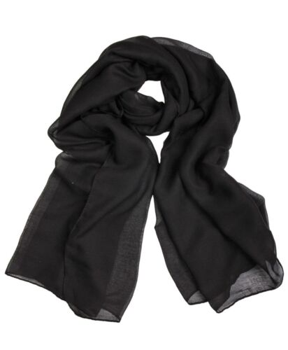 Ladies Womens Plain VISCOSE//RAYON Large Maxi Scarf Hijab Shawl Sarong Wrap