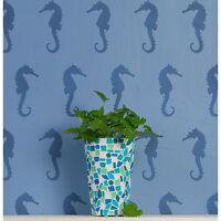 Seahorses Allover Stencil Pattern - Sturdy And Reusable Wall Stencil