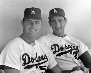 Los-Angeles-Dodgers-SANDY-KOUFAX-amp-DON-DRYSDALE-Glossy-8x10-Photo-Print-Poster