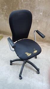 Sedia Da Ufficio Usata.Sedia Da Ufficio Nera Ikea Nominell Usata Ebay
