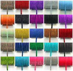 New-DIY-5-yards-3-8-034-10mm-Velvet-Ribbon-Headband-Clips-Bow-Decoration