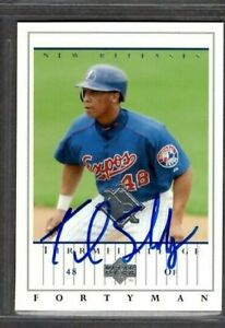 2003 Upper Deck #929 Terrmel Sledge Montreal Expos Card Signed Autograph (G66)